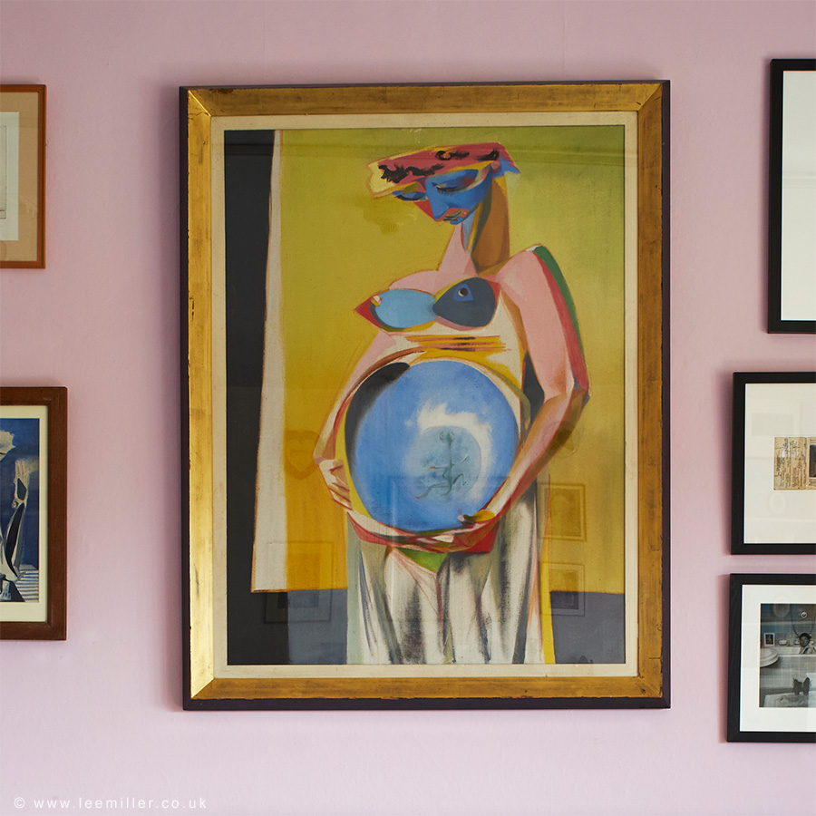 Painting of Lee Miller pregnant by Roland Penrose