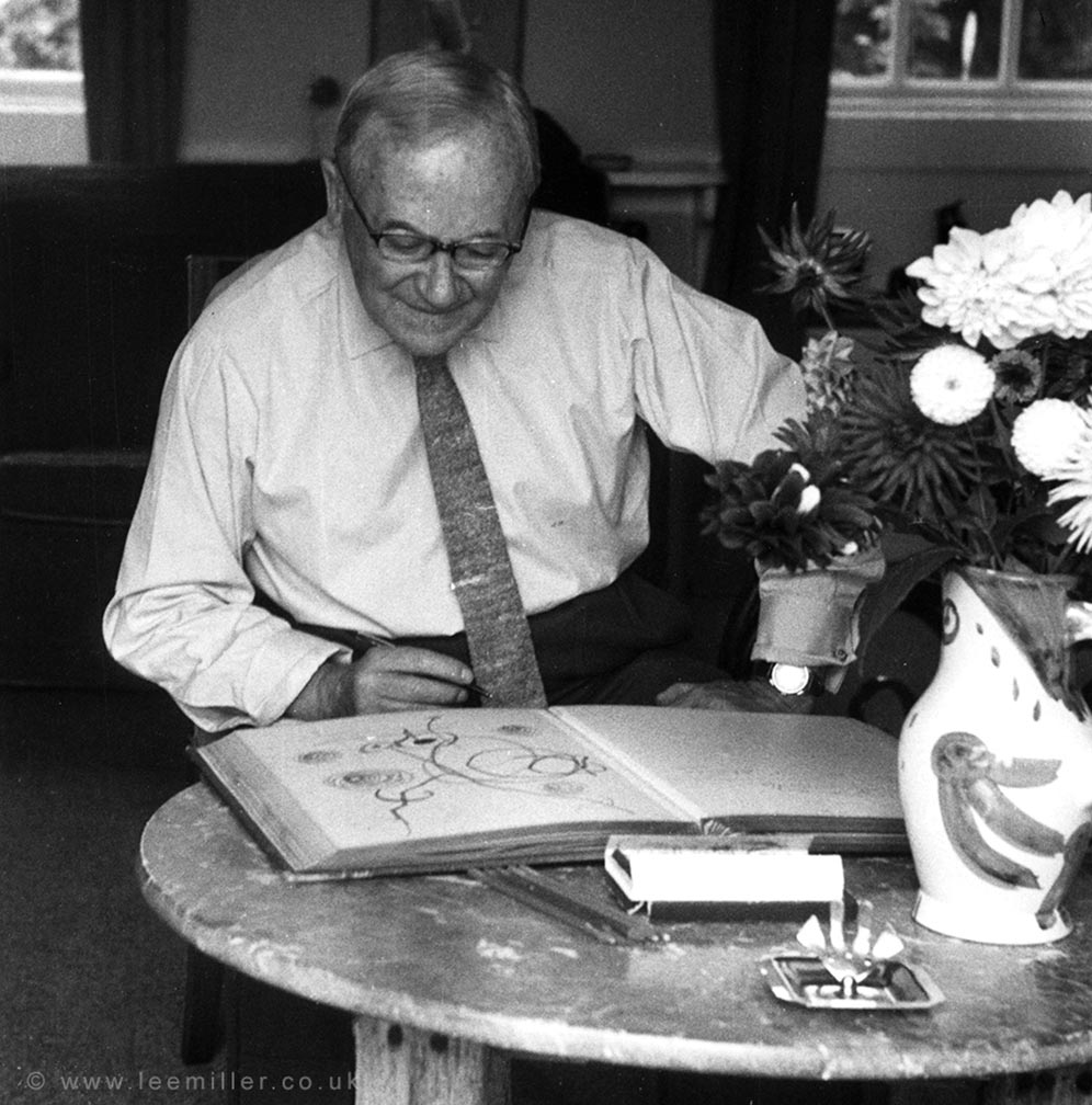 Miro signing the visitors book at Farleys in 1964