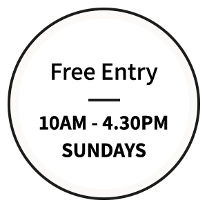 Free Entry, 10am - 4.30pm, Sundays