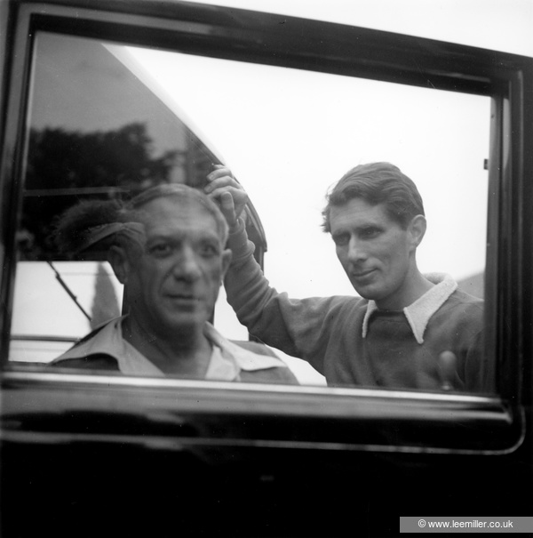 Photograph by Lee Miller of Picasso and Roland Penrose
