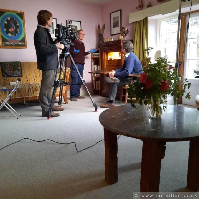 Antony Penrose filming for Lovelee in the sitting room